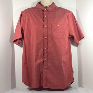 Mens The North Face button down shirt sz.lg. Red